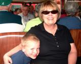 July 2009 - Kyler M. Kramer with his grandma Karen C. Boyd on the Manitou Springs-Pike's Peak cog train