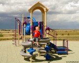 July 2009 - Kyler on the playground equipment at Peterson AFB, Colorado
