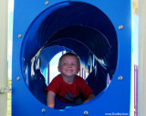 July 2009 - Kyler playing in the tunnel at the playground at Peterson AFB, Colorado