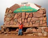July 2009 - Kyler on top of Pike's Peak, Colorado