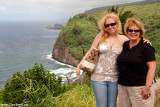 July 2009 - Donna and Karen at a lookout point on the north coast of the Big Island