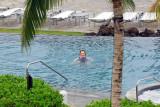 July 2009 - Karen swimming in the pool at the Waikoloa Beach Marriott, Big Island, Hawaii