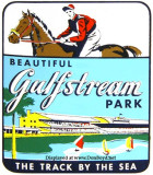 1950's - a Gulfstream Park travel decal