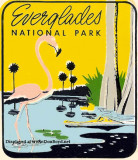 1950's - Everglades National Park travel decal