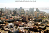 Approach into San Diego past downtown landscape stock photo #2992