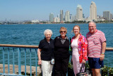 September 2009 - Esther Criswell, Karen, Wendy Criswell and Don Boyd with downtown San Diego in the background