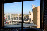 The view of Petco Park at San Diego from our suite at the Omni Hotel stock photo #3001