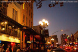 One busy block in the Gaslamp District, San Diego, stock photo #3010