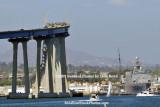 The Coronado Bridge as viewed from Coronado Island landscape stock photo #4761