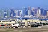Naval Air Station North Island with downtown San Diego in the background landscape stock photo #4766
