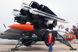 October 2009 - Kyler with some U. S. Army Hawk missiles at Peterson Air Force Base