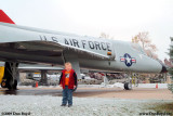 October 2009 - Kyler with Convair F-106A Delta Dart #AF59-0134 at the Peterson Air & Space Museum