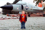 October 2009 - Kyler with Convair F-102A Delta Dagger #AF56-1109 at Peterson Air Force Base