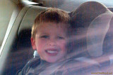 October 2009 - Kyler in his car seat at Garden of the Gods