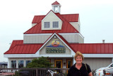 April 2010 - Karen in front of the great Kentmorr Restaurant on the eastern shore of Maryland