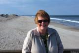 April 2010 - Karen at Cape Henlopen State Park, Delaware