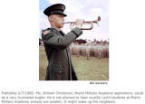 1965 - PFC William Christman, bugler at Miami Military Academy