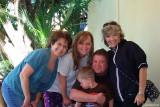 March 2010 - Linda Mitchell Grother, Karen, Kyler and Steve Kramer, and Brenda Reiter on our back porch