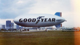 1978 - the Goodyear Blimp GZ-19A N38A Mayflower during the last season of operations from Watson Island