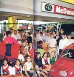 1969 - Hialeah teens and Thoroughbred cheerleaders at McDonald's on Palm Springs Mile, Hialeah (info below photo)