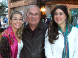 September - Don with his two nieces Lisa Marie Criswell Law (left) and Katie Criswell (right) after Lisa's wedding in Utah
