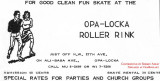 1962 - ad for the Opa-locka Roller Rink from the Opa-locka Cookbook by the Golden Gate Garden Club