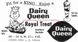 1962 - advertisement for the Dairy Queen across from J. M. Fields north of Opa-locka on NW 27th Avenue