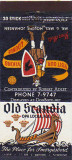 Early 1950's - matchbook cover for Old Scandia Restaurant in Opa-locka