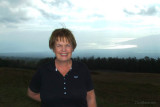 August 2010 - Karen with west Maui behind her