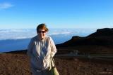 August 2010 - Karen on top of the Haleakalā (East Maui) volcano