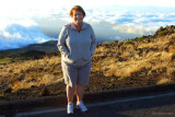 August 2010 - Karen on the west side of Haleakalā (East Maui) volcano above the clouds