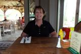 August 2010 - Karen at the Hana Ranch Restaurant in Hana, Maui