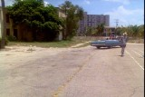 1987 - view from old South Beach Elementary School - scene from Miami Vice episode