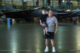 July - Kyler and Don with a General Dynamics FB-111A Aardvark bomber at the Wings Over the Rockies Air & Space Museum