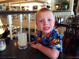 October 2010 - Kyler at his favorite restaurant, Fargo's Pizza