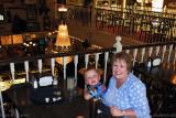 October 2010 - Kyler with Grandma Boyd at his favorite restaurant, Fargo's Pizza