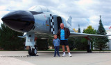 October - Grandpa Boyd with his grandson Kyler and an F-4 Phantom at the Peterson Air & Space Museum, Colorado Springs