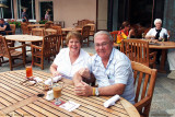 August 2010 - Karen and Don having lunch outdoors at the beautiful Broadmoor Hotel in Colorado Springs