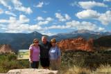 October 2010 - Karen D., Don and Karen C. at an overlook across from Garden of the Gods