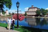 October 2010 - Karen C. and Karen D. next to Cheyenne Lake at the beautiful Broadmoor Hotel