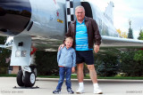 October - Kyler with his Grandpa Boyd and a F-4C Phantom at the Peterson Air & Space Museum, Colorado Springs