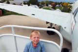 October 2010 - Kyler on top of stairs at Lockheed EC-121T Warning Star #AF52-3425