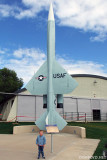 October 2010 - Kyler with a USAF Boeing F-99/IM-69/IM-99/CIM-10 Bomarc ground to air missile