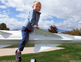 October 2010 - Kyler on an old Army missile at the Peterson Air & Space Museum