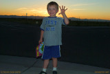 July 2010 - Kyler at sunset over the Rockies a short distance south of Denver International Airport