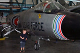 July 2010 - Kyler and a Lockheed F-104C Starfighter at the Wings Over the Rockies Air & Space Museum