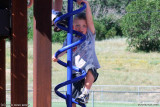 August 2010 - Kyler having a great time on the Palmer Park playground