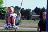August - Kyler and Grandma Boyd at the Palmer Park playground, Colorado Springs