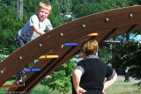 August - Kyler and Grandma Boyd at the Palmer Park playground