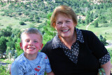 August 2010 - Kyler and Grandma Boyd at the top of Palmer Park